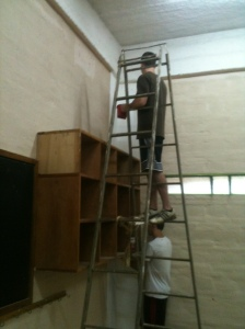"Painting the ""new"" classrooms"