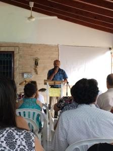 Oscar Preaching at Las Garzas