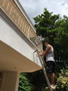 Painting the Quinta Outside Facade
